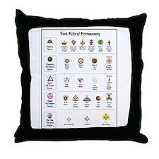 York Rite Emblems Throw Pillow