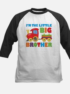 Little Big Bro Train Kids Baseball Jersey