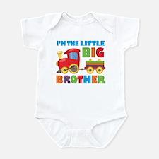 Little Big Bro Train Infant Bodysuit
