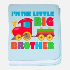 Little Big Bro Train baby blanket