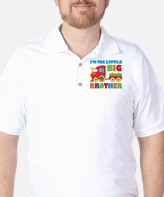 Little Big Bro Train Golf Shirt