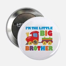 "Little Big Bro Train 2.25"" Button (100 pack)"