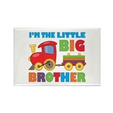 Little Big Bro Train Rectangle Magnet