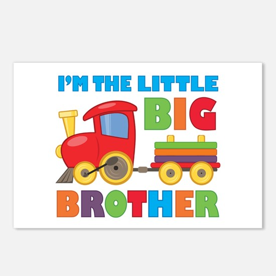 Little Big Bro Train Postcards (Package of 8)