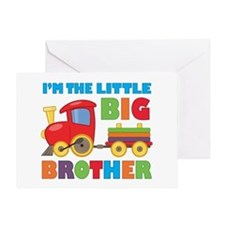 Little Big Bro Train Greeting Card