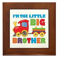 Little Big Bro Train Framed Tile