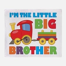 Little Big Bro Train Throw Blanket