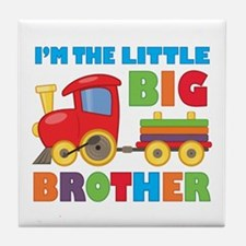 Little Big Bro Train Tile Coaster