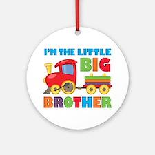 Little Big Bro Train Ornament (Round)