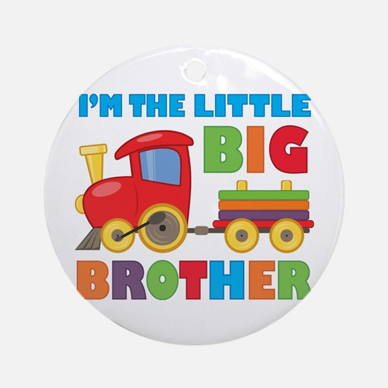 Little Big Bro Train Ornament (Round)