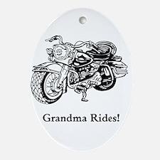 Grandma Rides Ornament (Oval)