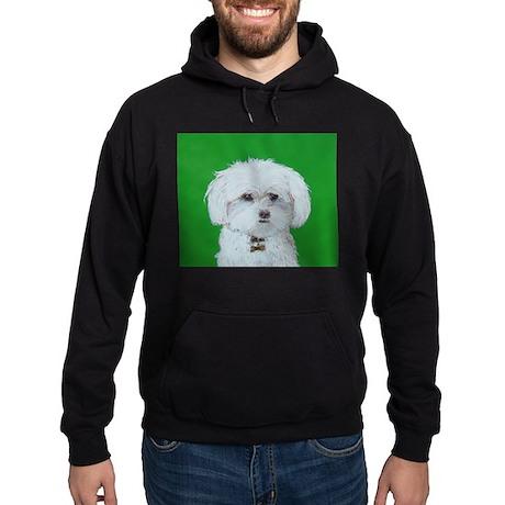 """""""Maltese Terrier"""" Hoodie (dark)"""