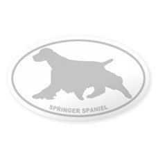Springer Spaniel - Gray on Clear Decal