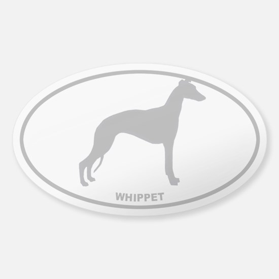 Whippe - Gray on Clear Sticker (Oval)