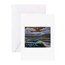 Midnight Shoreline Greeting Cards (Pk of 10)