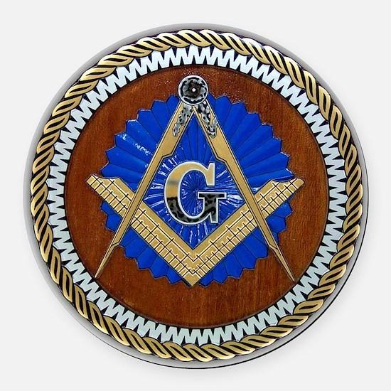 Freemasonry Round Car Magnet