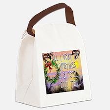 Beachy Christmas Canvas Lunch Bag