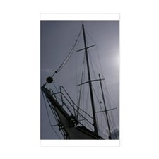 Sailing Silhouette Rectangle Decal