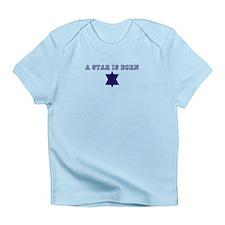 Jewish star is born infant t-shirt.