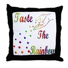 Taste The Rainbow Throw Pillow
