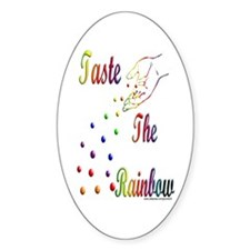 Taste The Rainbow Oval Decal