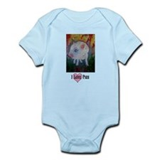 I Love Pigs - text 1 Infant Bodysuit