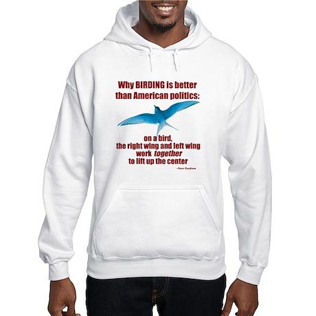 Birding vs. Politics Hooded Sweatshirt
