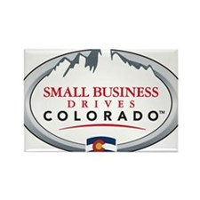 Small Business Drives Colorado Rectangle Magnet