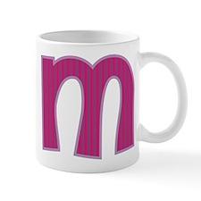 Initial M with Pink/Purple Stripes Mug