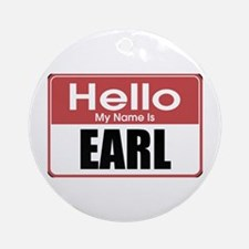 Earl Name Tag Ornament (Round)