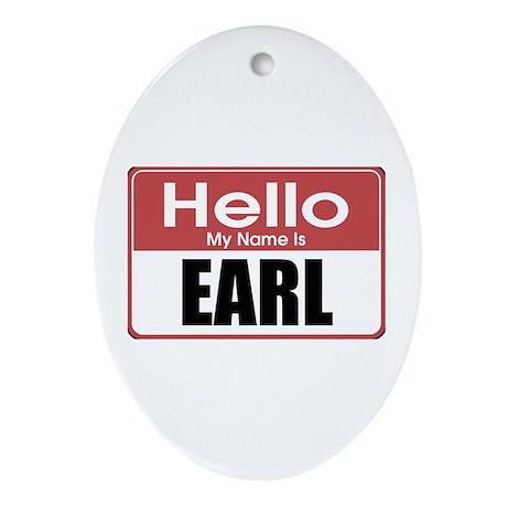Earl Name Tag Oval Ornament