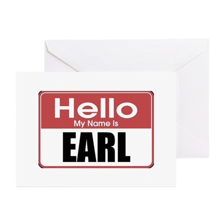 Earl Name Tag Greeting Cards (Pk of 10)