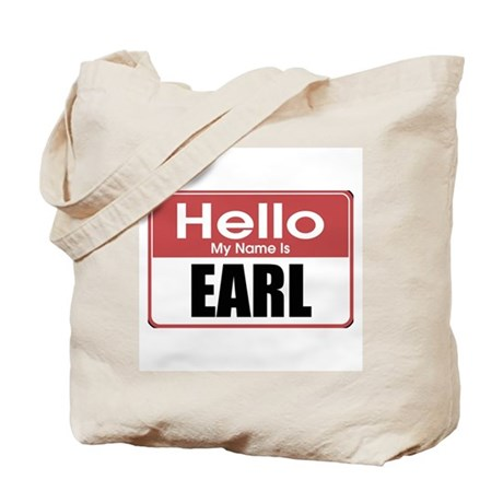 Earl Name Tag Tote Bag