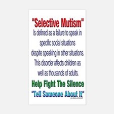 Selective Mutism Rectangle Decal
