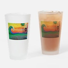 Drippy Island Drinking Glass