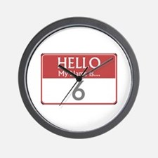 Hello My Name Is 6 Wall Clock