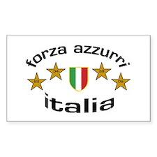 Forza Italia Rectangle Decal