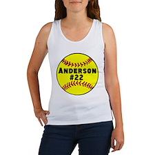 Personalized Softball Women's Tank Top