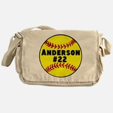 Personalized Softball Messenger Bag