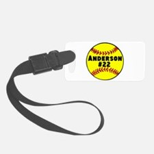 Personalized Softball Luggage Tag