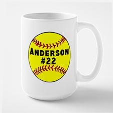Personalized Softball Mug