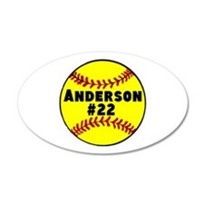 Personalized Softball Wall Decal