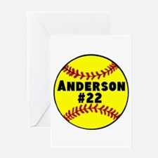 Personalized Softball Greeting Card