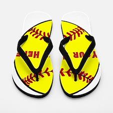 Personalized Softball Flip Flops