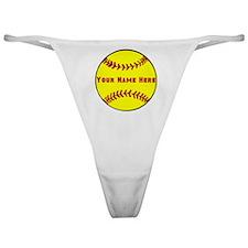 Personalized Softball Classic Thong