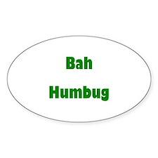 Bah Humbug (green) Oval Decal