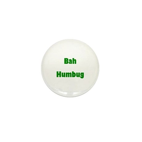 Bah Humbug (green) Mini Button (100 pack)