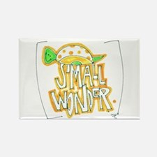 Small Wonder Snail Rectangle Magnet