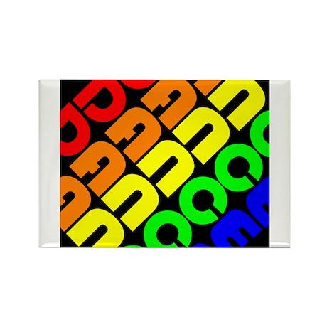Rainbow Dance Rectangle Magnet