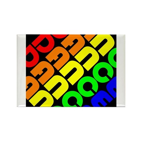 Rainbow Dance Rectangle Magnet (10 pack)